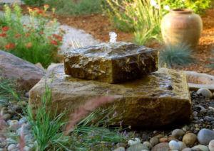 wassergarten brunnen fontäne quellstein