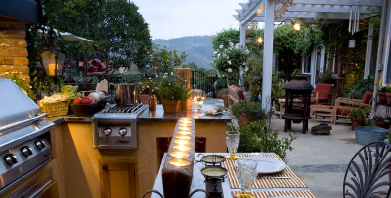 Outdoor Küche Gartenfest