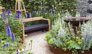 Cortenstahl Steingarten Gartenplanung