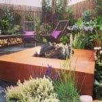 Feuertisch Terrasse Garten
