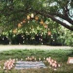 Gartenfest Picknick Dekoration