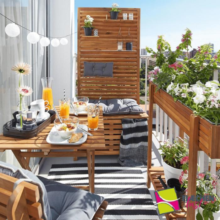 balkon sichtschutz hochbeet