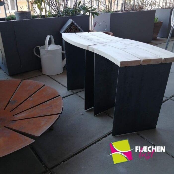 Garten hocker sitzbank dachgarten