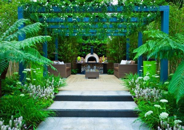 schattengarten pegola begrünt