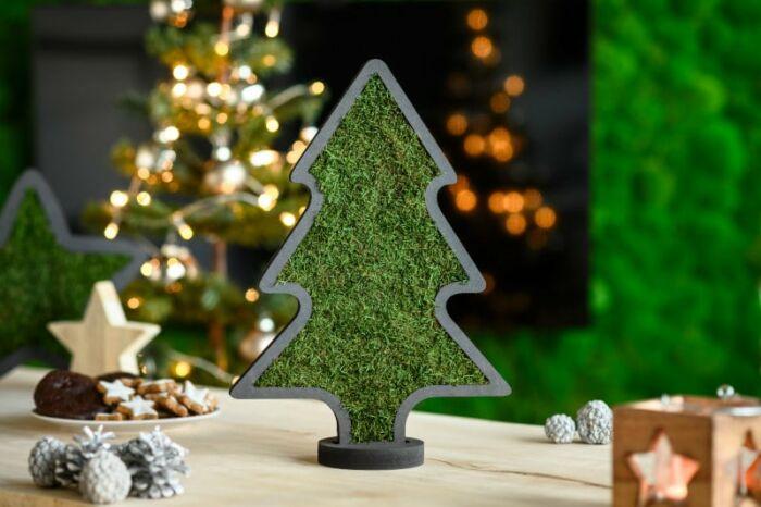 Weihnachten Moosdeko Weihnachtsbaum