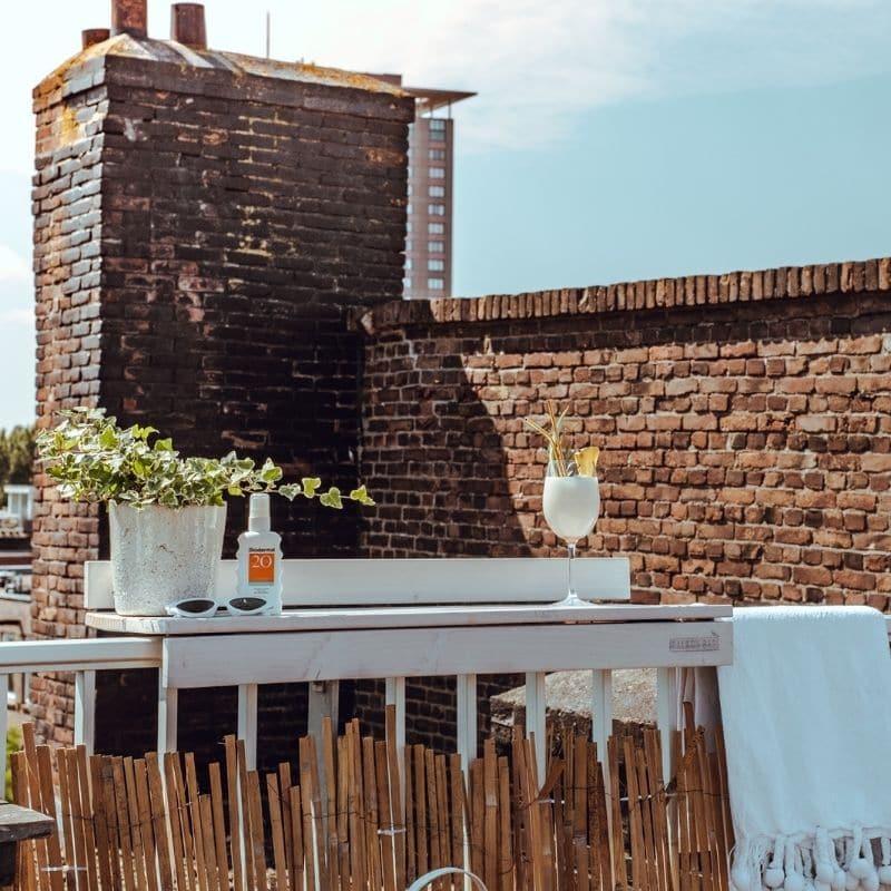 balkon garten tisch